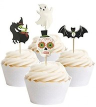 PARTYMASTER Halloween Decorations 48PCS Skeletons Bat Food Toothpicks C... - $17.24