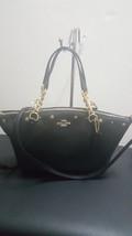 Coach Floral Rivets Kelsey Chain Leather Black Satchel Handbag Purse F37773 - ₹14,103.17 INR