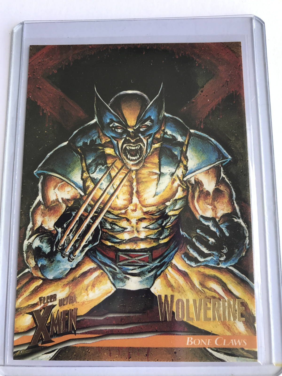 Fleer Ultra X-men Promo Card  Wolverine Bone claws  Trading Card