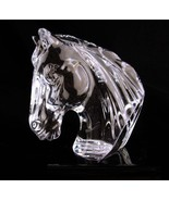 Waterford Horse statue - animal bust - equestrian gift - Crystal paperwe... - $135.00
