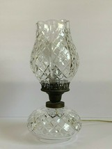 Vintage Waterford Crystal Tulip Top Shaped Shade Hurricane Electrical Table Lamp - $249.00