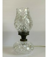 Vintage Waterford Crystal Tulip Top Shaped Shade Hurricane Electrical Ta... - $249.00