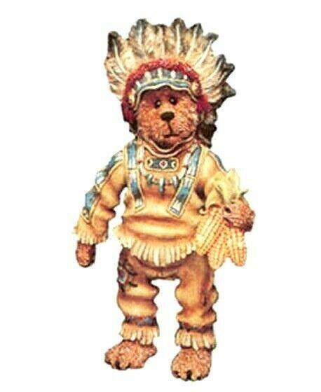 """Boyds Shoe Box Bear """"Chief Sittingbear"""" 5.5"""" Bear- #3218-  Retired"""
