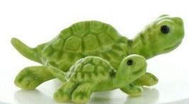 Hagen Renaker Miniature Turtle Mama and Baby Ceramic Figurine Set