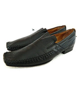 RARE! GINO ROSSI 42 US 10 LOAFERS Animal LIZARD SKIN Dress Casual SHOES ... - $32.07
