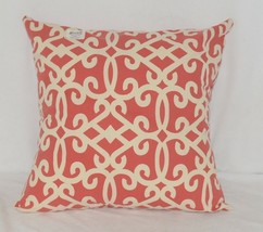 Split P Amelia 2505054CVR Red White Zippered  Cover 18 Inch Polyester Pillow image 1