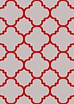 PREMIUM 3D Hand Carved Modern 3x5 4x6 Rug Contemporary 4518 Gray Grey Red - $75.00