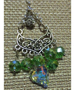 """Hand crafted Tricia's """"One of a kind""""Chandelier style drop,Swarovski Heart, - $30.00"""