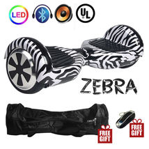 Zebra Stripes Hoverboard Bluetooth LED's Two Wheel Balance Scooter UL2272 - $249.00