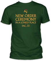 New Order-Ceremony-Medium Forest Green Fitted  T-shirt - $22.24