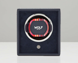 WOLF 1.8 Howard Single Cub Watch Winder Box Navy Automatic Watch 462217 - $195.00