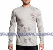 AFFLICTION Brave Heritage A16873 New Men`s Grey/Graphite Long Sleeve T-s... - $45.95