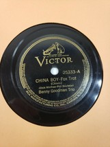 BENNY GOODMAN VICTOR 78RPM RECORD 25333 CHINA BOY / OH LADY BE GOOD V+/V... - $12.25