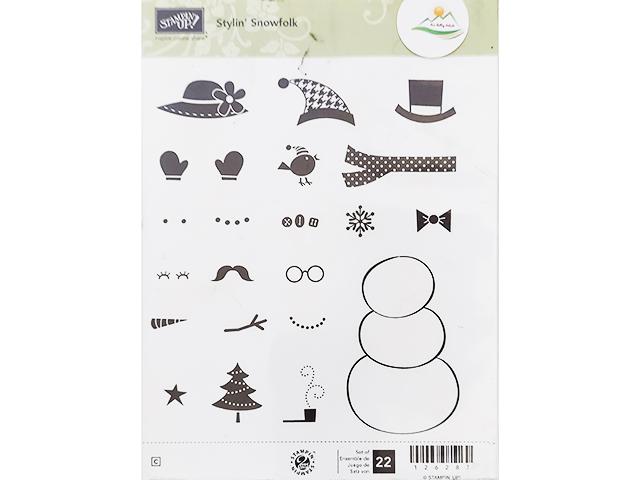 Stampin' Up! Stylin' Snowfolk Rubber Stamp Set #126287