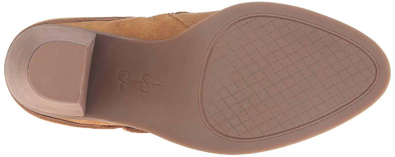Jessica Simpson Cerrina Honey Brown Block Suede Ankle Boots