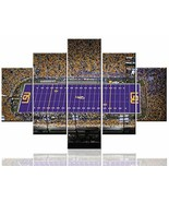 Sports Wall Art Tiger Stadium Paintings on Canvas LSU Tigers Football Te... - $87.87