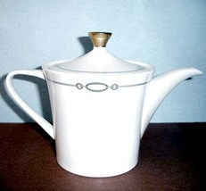 Waterford China Dorado Tea Pot Beverage Server #146639 New In Box - $118.90