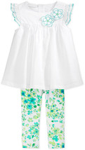 First Impressions Girls' 2-Piece Embroidered Tunic&Floral-Print Leggings, 18 M - $11.87