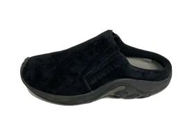 Merrell jungle slide midnight women's mules shoes slide suede black size US 6 - $22.33