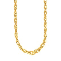 14k Yellow Gold Ornate Prince of Wales Chain Necklace - $477.09