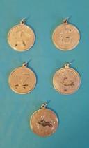 Vintage Sterling Silver Zodiac Charm Pisces Cancer Libra Sagittarius Cap... - $12.99