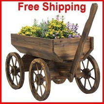 Planter Wagon Garden Outdoor Patio Flower Décor Cart Home Best Choice Pr... - $258.46 CAD