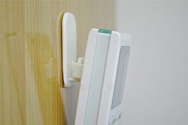 Excelity Set of 4 Remote Controller Wall Hook Holder with Self Adhesive image 3