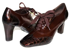 ✿ Franco Sarto Hammer Croco Patent Leather Booties Pumps 9 M Excellent! L@@K!25 - $42.74