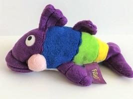 "The Fish Philosophy Pete The Perch Purple Plush Stuffed 9"" Fish - $14.01"