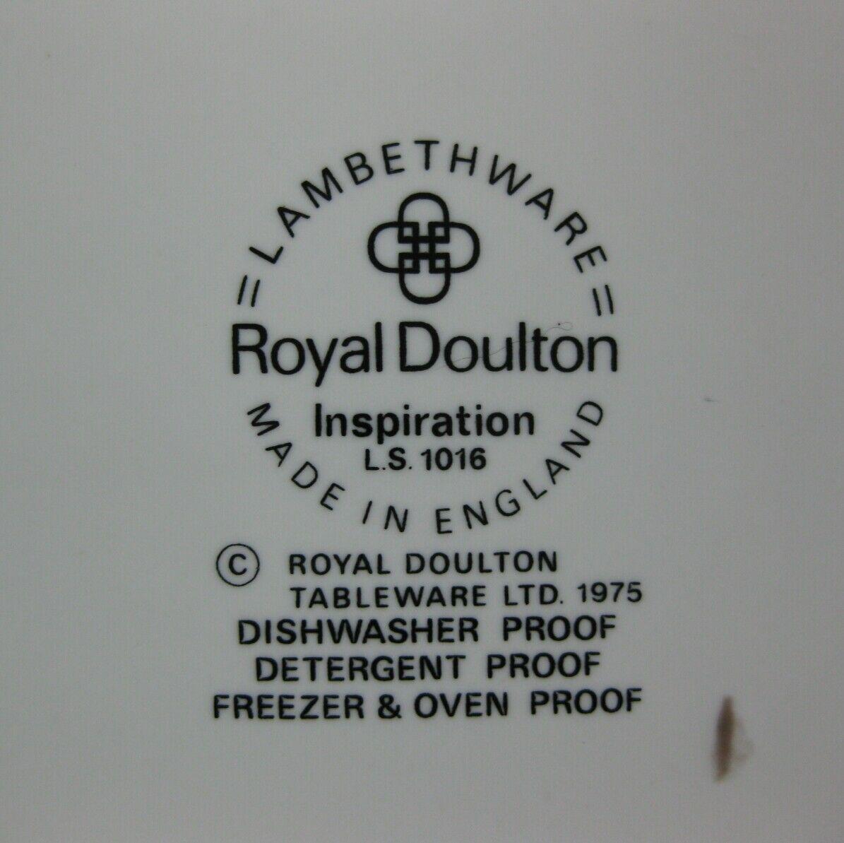 "Royal Doulton Inspiration LS1016 Oval Serving Platter 13"" Lambethware England image 3"