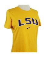 Nike LSU Tigers T-Shirt Large Slim Fit Purple Gold Cotton Baton Rouge NC... - $15.99