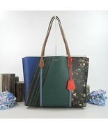 Tory Burch Perry Sacred Floral Leather Triple Compartment Tote Shoulder ... - $321.26