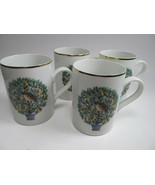 Avon Set of 4 Mugs Partridge In a Pear Tree 12 Days of Christmas EUC - $19.59