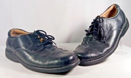 DOCKERS LEATHER BLACK SPLIT TOE COMFORT CASUAL DRESS MAN'S LOAFER SHOE S... - $87.07