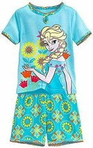 Disney Store Girls Elsa - Frozen -Dream Quest Short Sleep PJ Pals Set, Blue, Siz - $20.00