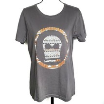 Twenty One Pilots Womens Tshirt L Gray Orange Tribal Graphic Band Tee Sh... - $24.99