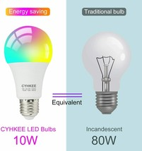 LED Color Changing Light Bulb & Remote Control, 80W equivalent Soft whit... - $13.98