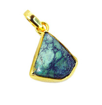 cute Turquoise Gold Plated Multi Pendant genuine india  US gift - $12.86