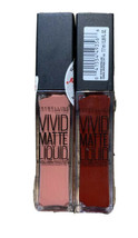 Maybelline Vivid Matte Liquid Lipstick #36 Red Punch #10 Nude Flush NEW ... - $10.71