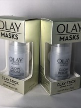 2x Olay Masks Glow Boost Clay Stick Facial Mask 1.7 oz/48g New in Box - $12.75