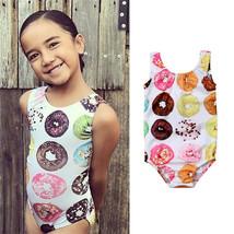 Kids Baby Girls Sweet Summer Swimwear Girl Donut Printed Sleeveless Stra... - $9.34