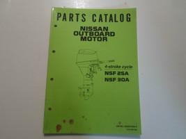 Nissan Fueraborda Motor Nsf 25A 30A Partes Catalog Manual Fábrica OEM Of... - $12.61