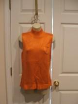 new in pkg  NEWPORT NEWS ORANGE sleeveless turtleneck sweater SIZE medium - $16.82