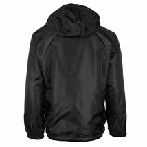 Men's Water Resistant Polar Fleece Lined Hooded Windbreaker Rain Jacket image 3