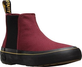 Dr. Martens Womens Phoebe Chelsea Boot Cherry Red Canvas 8 B(M) US Two-D... - $41.13