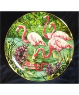 Rosy Flamingos Porcelain Plate Collectible Royal Cornwall Exotic Birds T... - $19.99