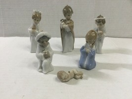 LLADRO Spain Holy Family And 3 Kings Miniature Nativity (Set Of 6) Ornam... - $78.00