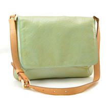 LOUIS VUITTON Vernis Thompson Street Shoulder Bag Baby Blue M91009 Auth ... - $180.00