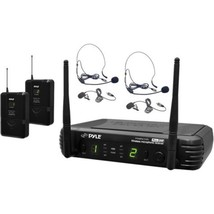 Pyle PDWM3400 Wireless 8-Channel Microphone System with 2 Bodypack Trans... - $122.86
