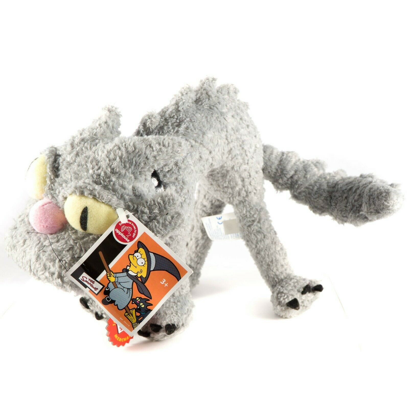 """The Simpsons Scary Cat Applause Plush 11"""" Tag Stuffed Animal Toy 63760 Gray"""